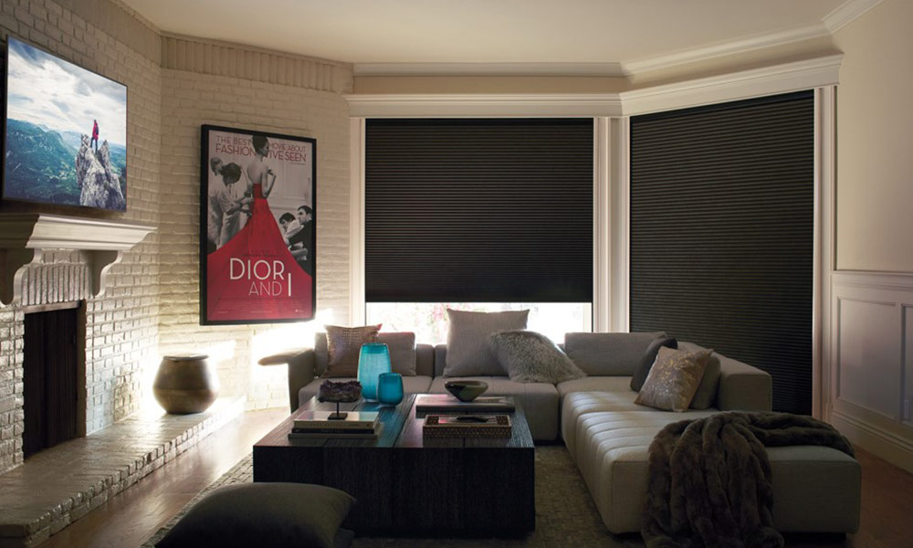 Experience ultimate darkness with Luxaflex Duette LightLock Shades