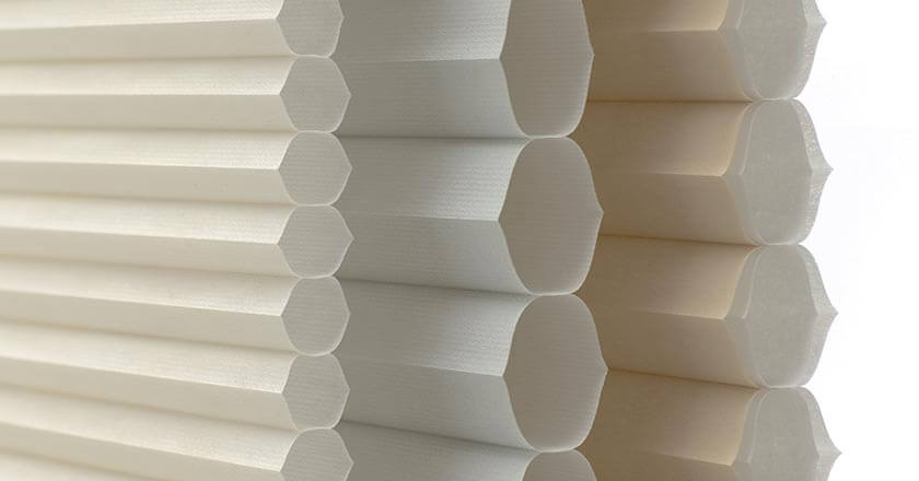 Honeycomb Duette blinds can help save up to 43% of heating and cooling costs within the home.
